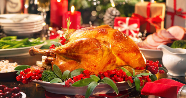 Holiday turkey meal